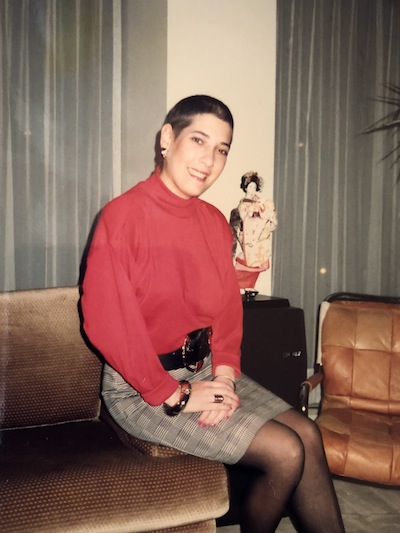 photo - The writer, at 18 years old, two months after being released from the hospital for treatment of Hodgkin's lymphoma