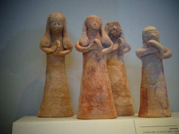 photo - Female hand drummers from the Iron Age II (eighth to seventh century BCE), found at the site of what was Achzib, on the Mediterranean coast of northern Israel. From the Israel Museum collection