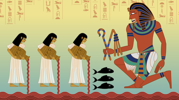 photo - God Almighty Herself induces Egypt to give birth. We simply need to listen for the birth mother's screams in the delivery room. We hear the screams throughout the plagues, as they become increasingly intensive, starting with the first plague, blood