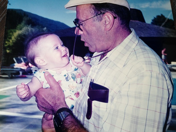 photo - The writer with her grandfather, George Wertman