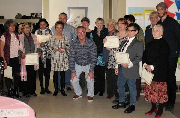 photo - Recent graduates of Jewish Seniors Alliance's peer support counseling training program