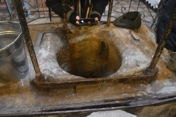 photo - Jacob's Well, which is in St. Photini Church in Nablus, or Shechem
