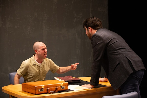 photo - Kenton Klassen, left, and John Voth co-star in Pacific Theatre's production of Cherry Docs