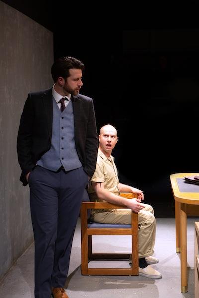 photo - John Voth, left, and Kenton Klassen co-star in Pacific Theatre's production of Cherry Docs