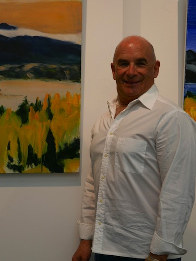 photo - Ian Penn at the opening of his latest solo exhibition at the Zack Gallery, which runs until April 28