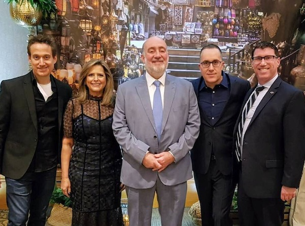 photo - At the JNF Negev Gala April 14, left to right: comedian Elon Gold, JNF Pacific Region president Bernice Carmeli, Ambassador Ron Prosor, JNF Pacific Region executive director Ilan Pilo and JNF Canada chief executive officer Lance Davis