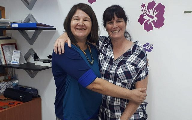 photo - Ety Siton, left, director of the Kfar Saba branch of ERAN, also oversees the Toronto volunteers. She is pictured with Sigal Almog, co-founder of Toronto's ERAN project