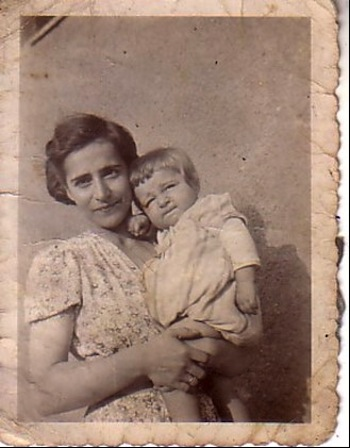photo - Dvora Pelleg holding baby Michael