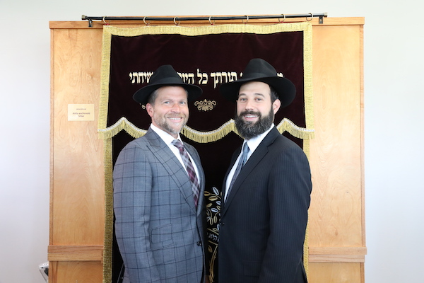 photo - Rabbis Noam Abramchik, left, and Aaron Kamin