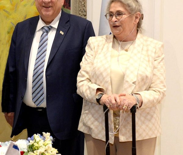 photo - Israeli President Reuven Rivlin and his wife, Nechama, in Jerusalem in May 2018