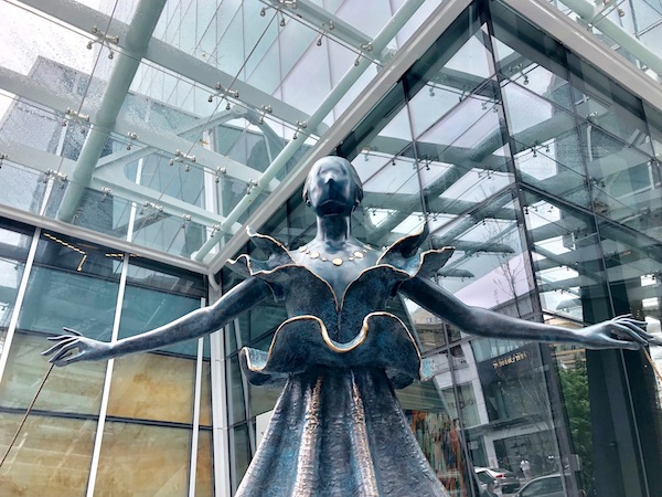 """photo - Salvador Dali's """"Dalinian Dancer"""" can be found at the corner of Thurlow and Alberni"""
