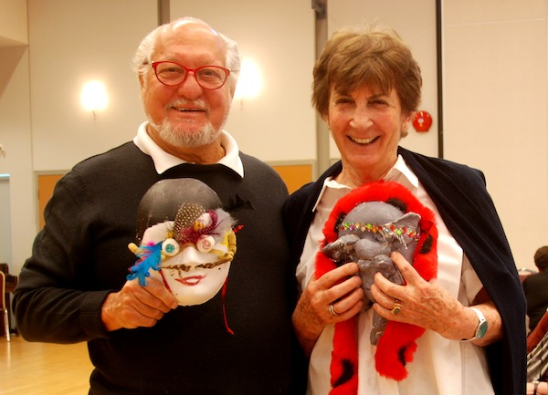 photo - George and Tamara Frankel at Masks, Revelations and Selfhood, the spring forum of Jewish Seniors Alliance, in partnership with the Louis Brier Home and Hospital, which was held May 26 at the Peretz Centre