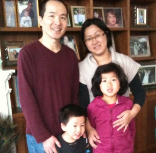 photo - Sui Khuu and her husband Dar, with their two children