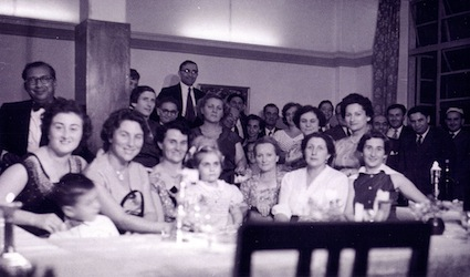 photo - The Kampala Jewish community gathers for visit of Chief Justice Joseph Herbstein from South Africa, 1958. Gifted by Ilsa Dokelman, in 2005