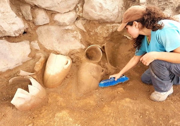 photo - Dozens of undamaged pottery vessels have been discovered so far at the site