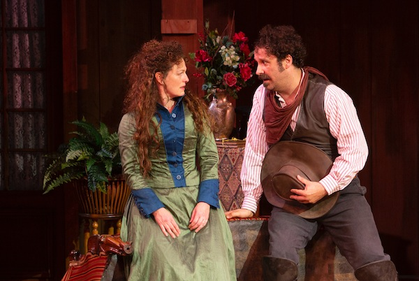 photo - Jennifer Lines and Andrew McNee in The Taming of the Shrew