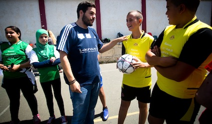 photo - Playing Fair, Leading Peace soccer match at a Jerusalem school