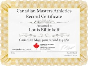 image - Lou Billinkoff has set running records