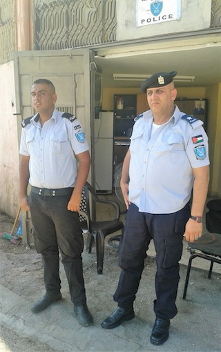 photo - Palestinian Authority police by Joseph's Tomb