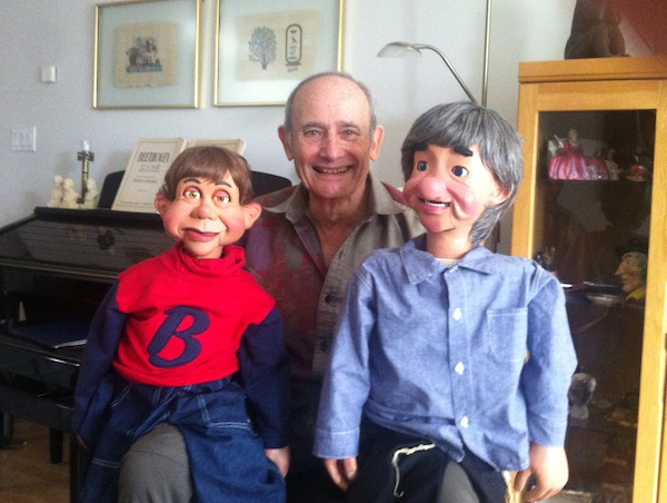 photo - Stan Shear has been on countless stages with figures Benjy, Jasper and his original puppet, Danny, now retired at the Vent Haven Museum in Fort Mitchell
