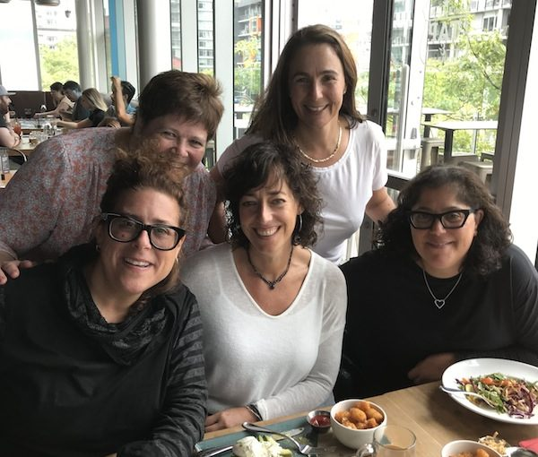 photo - National Council of Jewish Women of Canada, Vancouver section, members. Seated, left to right, are Lisa Boroditsky, Jill Kipnis and Sandi Hazan Switzer. Standing are Heather Sirlin, left, and Jane Stoller