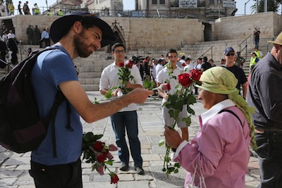 photo - Flowers of Peace volunteers on Jerusalem Day