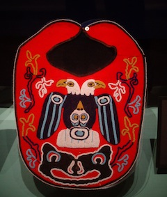 photo - A Tlingit bib from a display at Sitka's Sheldon Jackson Museum
