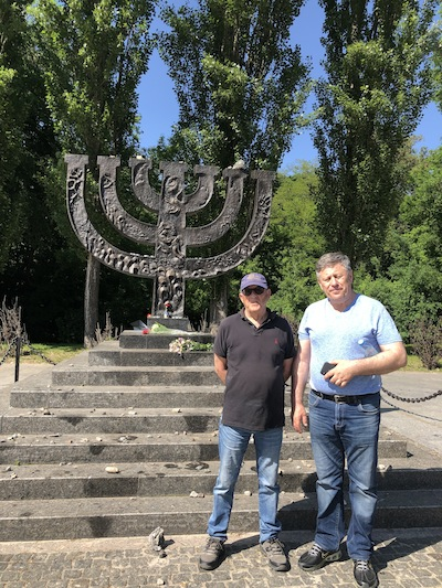 photo - Lucien, left, and Grisha at Babi Yar
