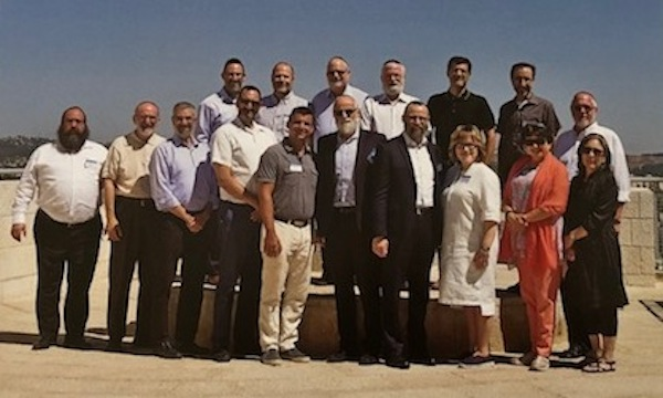 photo - Chabad Richmond's Rabbi Yechiel Baitelman, far left, was the only Canadian spiritual leader to participate in first-ever rabbinic seminar on Holocaust studies at Yad Vashem, the World Holocaust Remembrance Centre, this past July