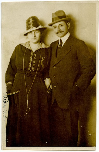 photo - Max and Gertrud Hahn, the patriarch and matriarch of the German-Jewish Hahn family of Göttingen. Photo taken in Berlin, Germany, 1918. While their children, Rudolf and Hanni, emigrated to England, the couple did not survive the Holocaust