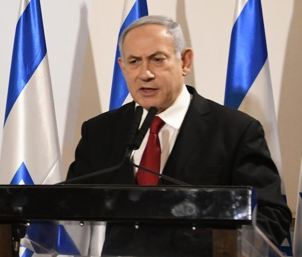photo - Israeli Prime Minister Binyamin Netanyahu talks about the rockets being fired from Gaza