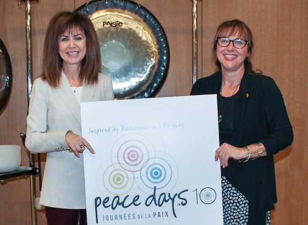 photo - Belle Jarniewski, president of the Manitoba Multifaith Council, left, and Christine Baronins, public affairs director for the Church of Jesus Christ of Latter-day Saints