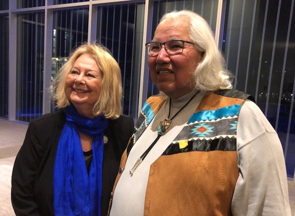 photo - Lillian Boraks-Nemetz and Senator Murray Sinclair