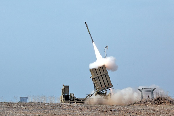 photo - A missile from Israel's Iron Dome is fired to intercept a missile coming from the Gaza Strip, in November 2012