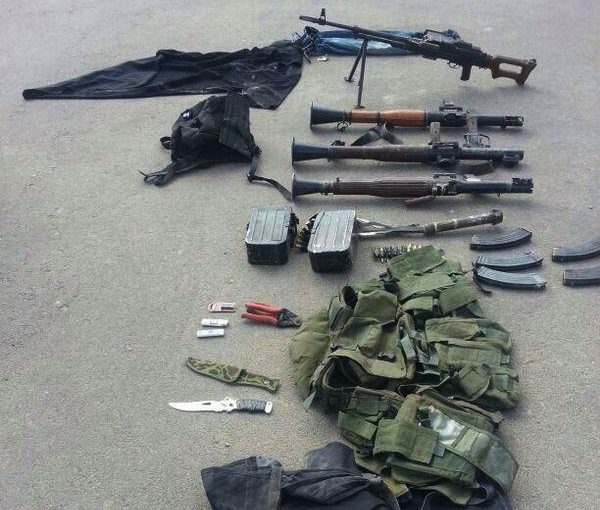 photo - Weapons seized from terrorists who infiltrated Israel through an underground tunnel to carry out a massacre in an Israeli community. This photo was taken on July 19, 2014