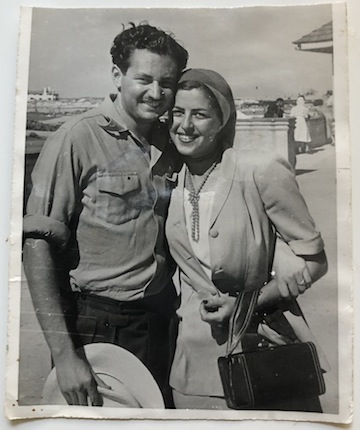 photo - Lou and Friedah Segal on their honeymoon, 1951