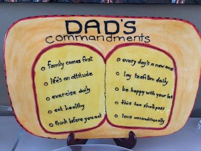 """photo - Plaque representing Lou Segal's top 10 """"commandments"""""""