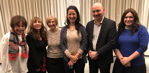 photo - Left to right: Debby Altow, NCJW Vancouver past president; Cate Stoller, NCJW Vancouver president; Shelley Rivkin, vice-president, Jewish Federation of Greater Vancouver; Kasari Govender, B.C. human rights commissioner; Ezra Shanken, Jewish Federation executive director; and Etti Goldman, Centre for Israel and Jewish Affairs