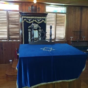 photo - Inside Sosua's synagogue