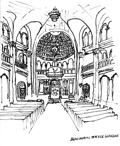 image - Templo Libertad in Buenos Aires, Argentina. Sketch by Ben Levinson