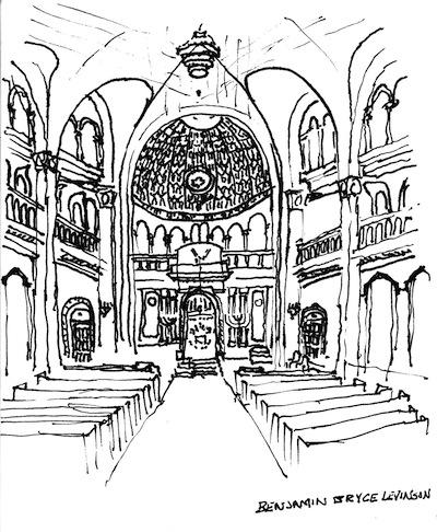 image - Templo Libertad in Buenos Aires, Argentina. Sketch by Ben Levinson