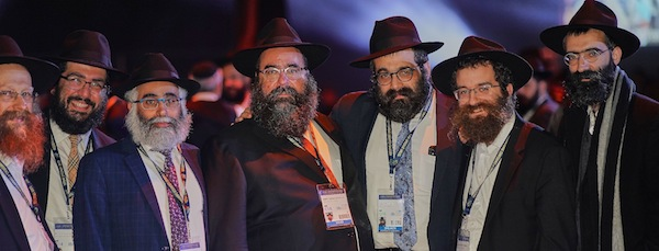 photo - Left to right, some of the B.C. rabbis who attended the conference: Rabbi Falik Shtroks (Chabad White Rock/Surrey), Rabbi Chalom Loeub (Chabad UBC), Rabbi Shmulik Yeshayahu (Community Kollel), Rabbi Yechiel Baitelman (Chabad Richmond); Rabbi Meir Kaplan (Chabad of Vancouver Island), Rabbi Bentzion Shemtov (Chabad Nanaimo) and Rabbi Binyomin Bitton (Chabad of Downtown Vancouver)