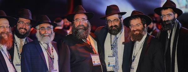 photo - Left to right, some of the B.C. rabbis who attended the conference: Rabbi Falik Shtroks (Chabad White Rock/Surrey), Rabbi Chalom Loeub (Chabad UBC), Rabbi Shmulik Yeshayahu (Community Kollel), Rabbi Yechiel Baitelman (Chabad Richmond); Rabbi Meir Kaplan (Chabad of Vancouver Island), Rabbi Bentzion Shemtov (Chabad Nanaimo) and Rabbi Binyomin Bitton (Chabad of Downtown Vancouver)