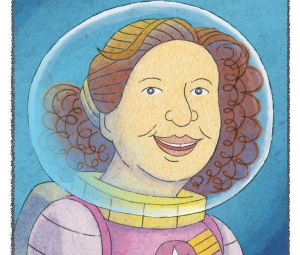 illustration - Intergalactic Afikoman publishing house is the brainchild of children's author and educator Brianna Caplan Sayres