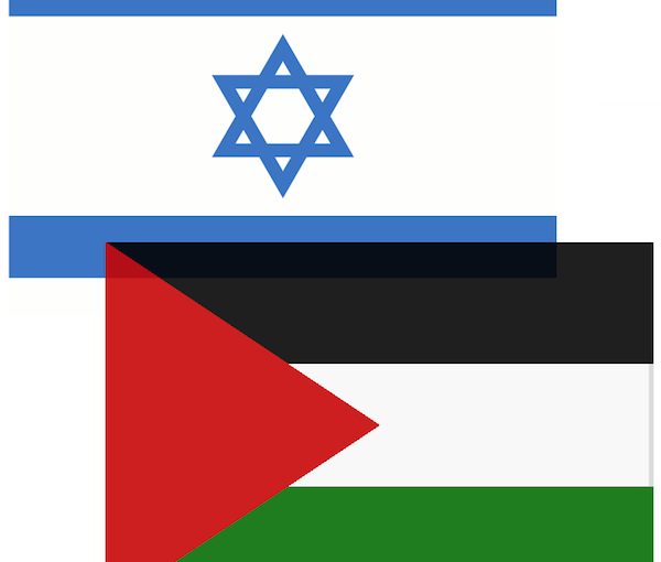 image - Israeli and Palestinian flags