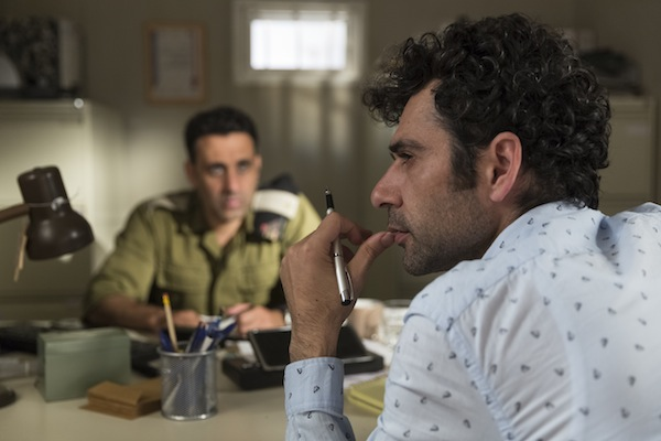 photo - Yaniv Biton as Assi, left, and Kais Nashif as Salam in Tel Aviv on Fire, which screens Feb. 28 as part of the Vancouver Jewish Film Festival