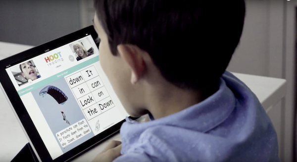 screenshot - With Hoot Reading, kids and teachers can see and hear each other via video chat