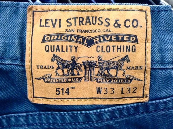 photo - Jeans bearing the Levi Strauss & Co. trademark