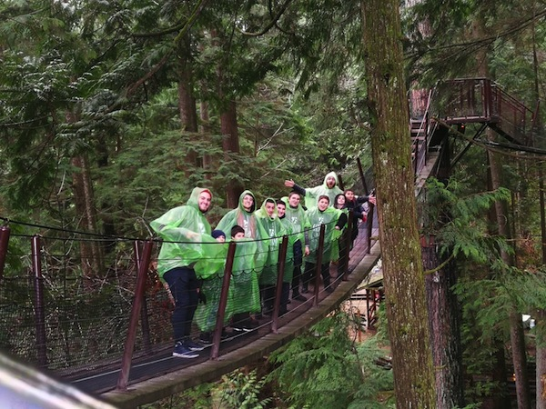 photo - A group of nine Jewish boys from Toronto was in Vancouver recently, courtesy of Chai Lifeline Canada