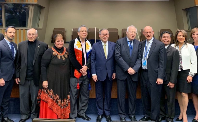 Photo - On Holocaust Remembrance Day, Jan. 27, B'nai Brith International (BBI) honoured former Philippine leader Manuel L. Quezon with a special panel discussion at the United Nations in New York City. BBI chief executive officer Dan Mariaschin is fifth from the right